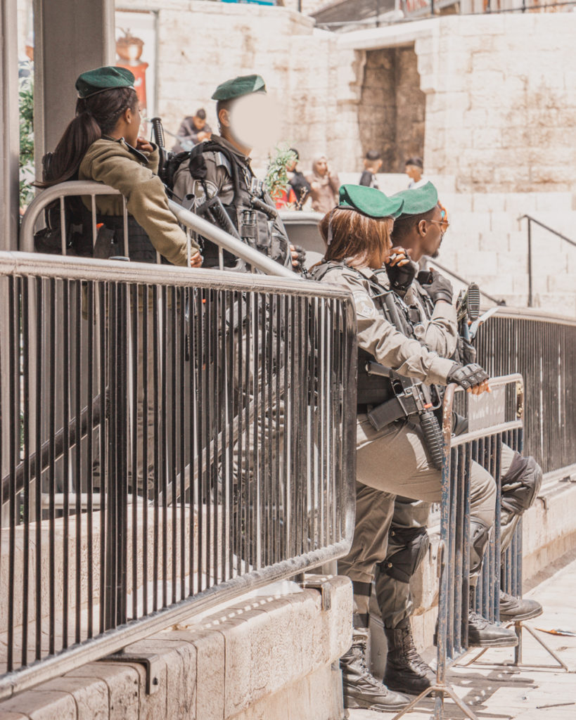 Soldiers in Jerusalem, Israel